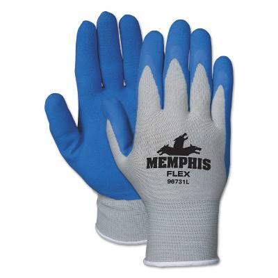 MCR Safety Memphis Flex Seamless Nylon Knit Gloves Large Blue/Gray Dozen 96731LDZ