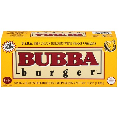 Bubba Burger USDA Choice Beef Chuck with Sweet Onions Burgers - Frozen - 32oz/6ct