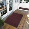 Burgundy Solid Doormat - (2'X3') - HomeTrax - image 2 of 4