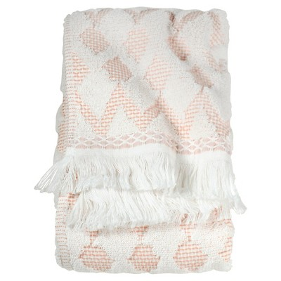 Finial Hand Towel Coral & White - Threshold™