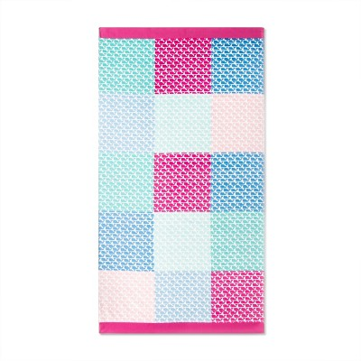 9ed05a7261c Patchwork Whale Beach Towel - Pink Blue - vineyard vines® for Target