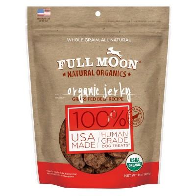 Full Moon - Organic Jerky Beef Recipe Dog Treats - 14oz