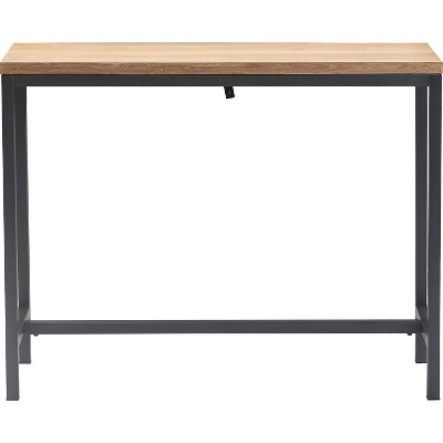 Dobson Natural Wood and Black Metal Console Table Natural - Finch