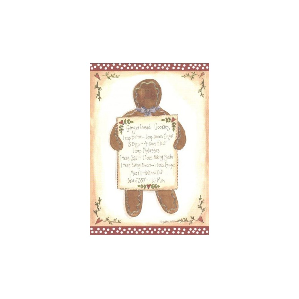 Gingerbread Cookies Small Boxed Holiday Cards (Stationery)