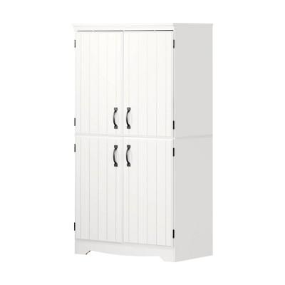 Farnel 4 Door Storage Cabinet Pure White - South Shore