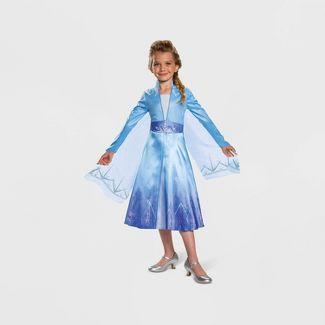 Toddler Girls' Disney Frozen Elsa Deluxe Halloween Costume 3T-4T
