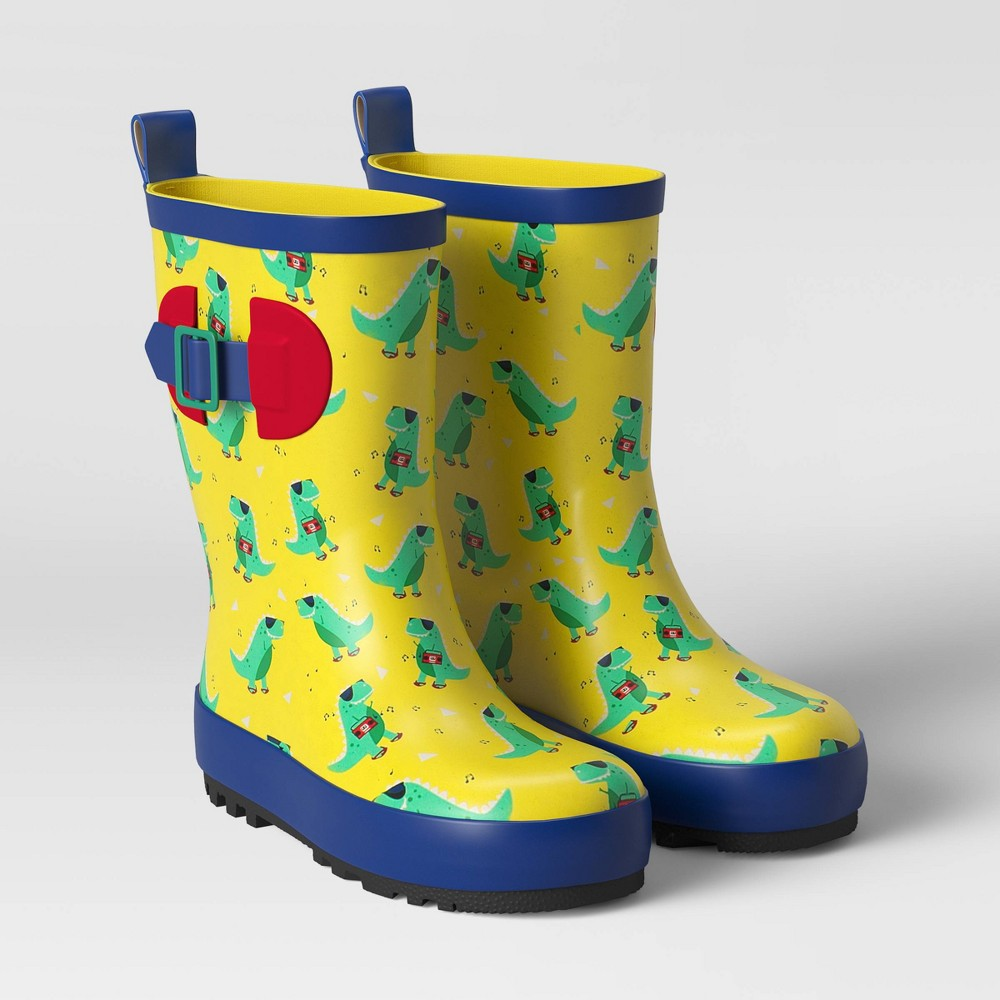 Image of Boys' Rain Boots Dino Yellow M - Sun Squad , Boy's, Size: Medium