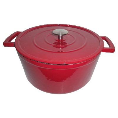 6 Quart Cast Iron Dutch Oven - Red - Threshold™
