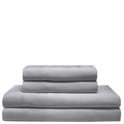 Queen 300 Thread Count Rayon from Bamboo Sheet Set Pewter - Elite Home Products