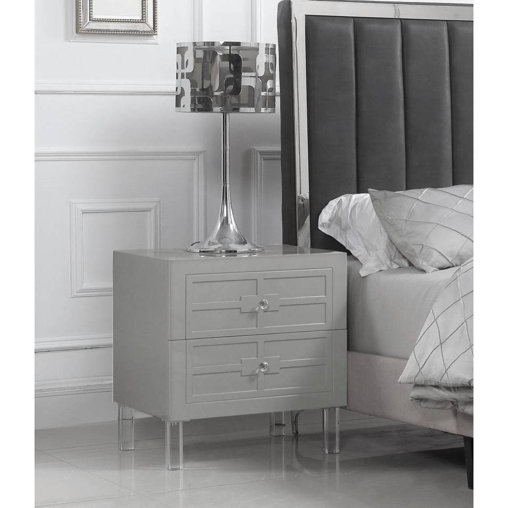 Lucca Side Table Gray - Chic Home Design was $379.99 now $265.99 (30.0% off)