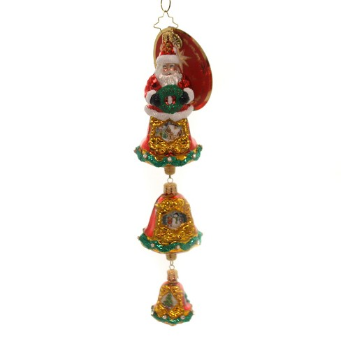 Christopher Radko Three-Teared Treasure Snowmen Trees Santa Bells - image 1 of 2