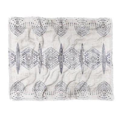 "60""X50"" Holli Zollinger French Eris Throw Blanket Blue - Deny Designs"