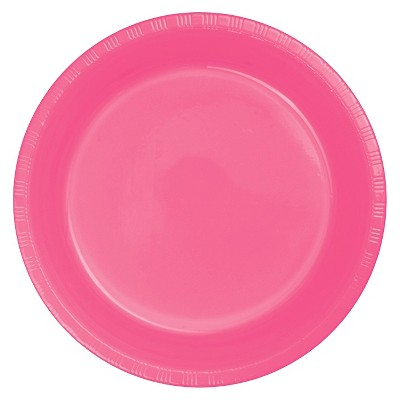 "Candy Pink 9"" Plastic Plates - 20ct"