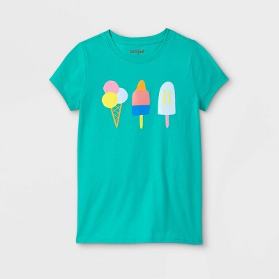 Girls' Popsicle Graphic Short Sleeve T-Shirt - Cat & Jack™ Turquoise