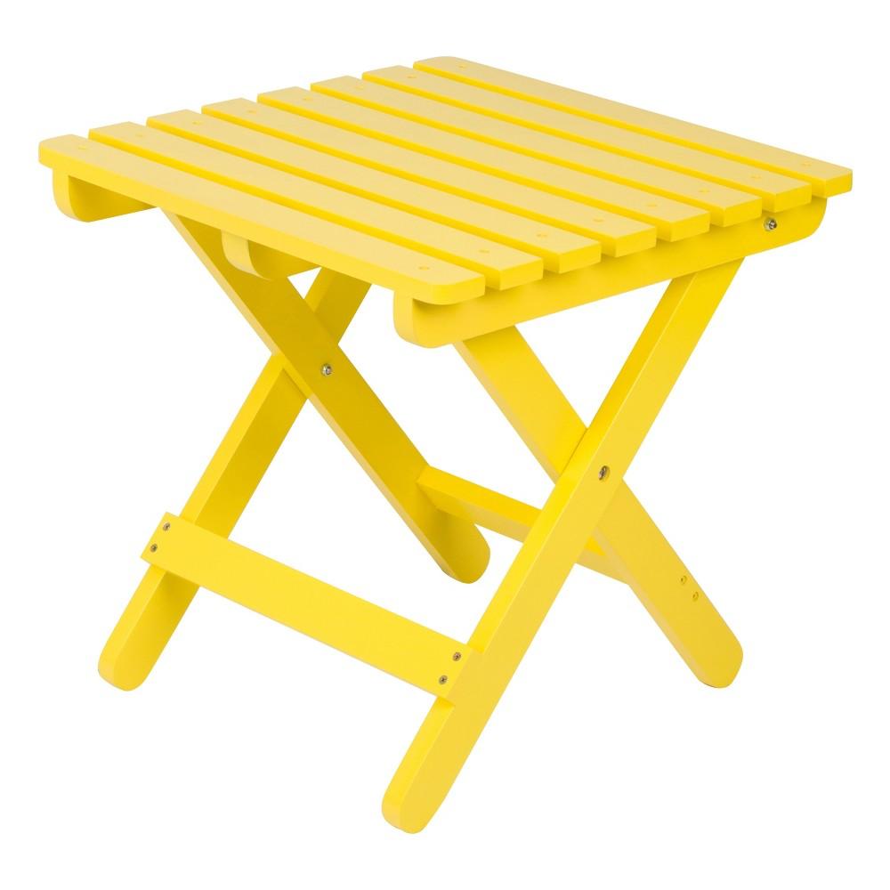 Image of Adirondack Folding Table - Lemon Yellow