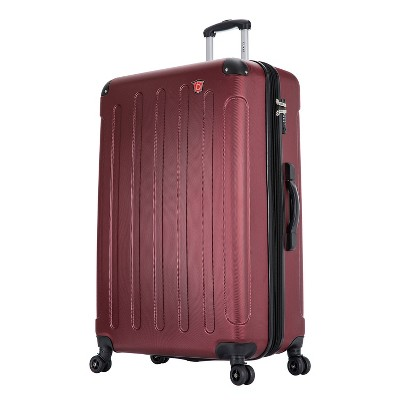 DUKAP Intely 32'' Hardside Spinner Suitcase with Integrated Digital Weight Scale