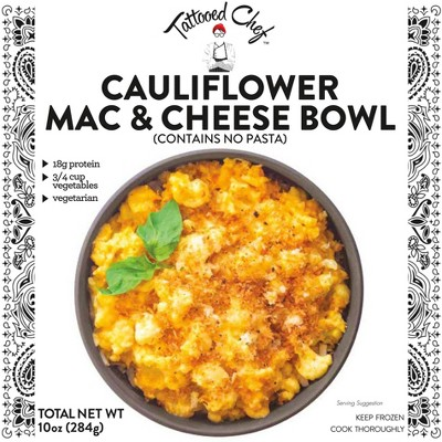 Tattooed Chef Frozen Cauliflower Mac & Cheese Bowl - 10oz