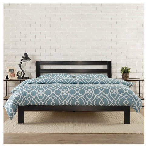 Modern Studio Metal Platform Bed 2000 with Headboard - Black - Zinus - image 1 of 5