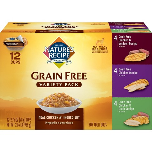 Nature's Recipe Grain Free Wet Dog Food Variety Pack - image 1 of 4