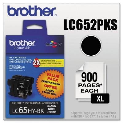 Brother LC652PKS Innobella High-Yield Ink Black 2/PK