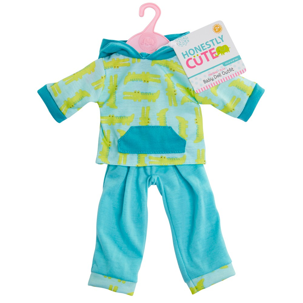 Honestly Cute Baby Doll Alligator Boy 2pc Outfit