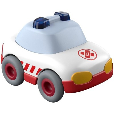 HABA Kullerbu White Ambulance with Momentum Motor