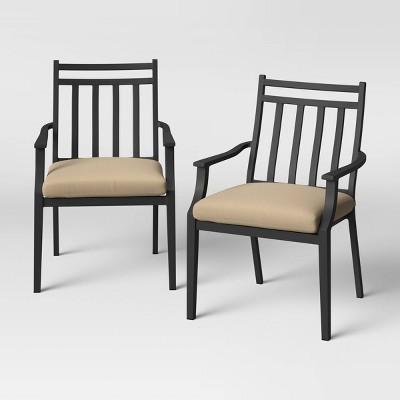 Fairmont 2pk Stationary Patio Dining Chair - Tan - Threshold™
