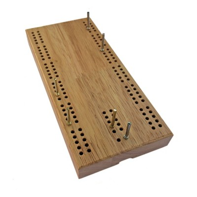 WE Games 7 Inch Travel Cribbage Board - Made of Solid Hardwood , 2 Players