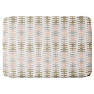 "Georgiana Paraschiv Triangles Cushion Bath Mat (36""x24"") - Deny Designs"