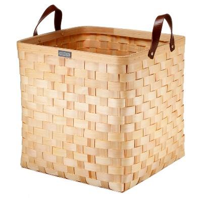 Cypress Wood Basket Large - Natural - Smith & Hawken™