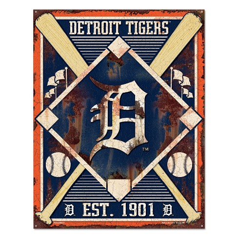 MLB Detroit Tigers Metal Sign - image 1 of 1