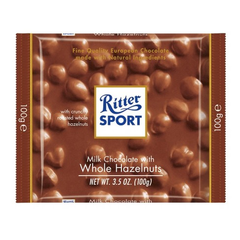 Ritter Sport Milk Chocolate with Whole Hazelnuts Bar - 3.5oz - image 1 of 1