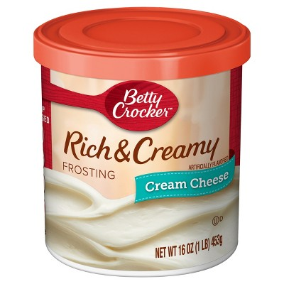 Frosting & Decorations: Betty Crocker Rich & Creamy Cream Cheese Frosting