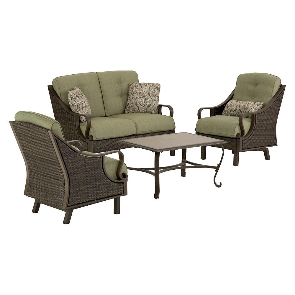 Ventura 4-Piece Wicker Patio Conversation Furniture Set