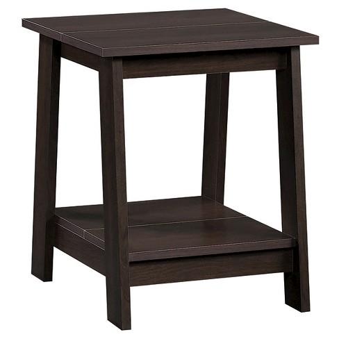 Trestle Side Table Espresso - Room Essentials™ - image 1 of 3