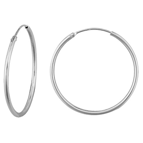 Sterling Silver Endless Hoop Earrings - Silver (16mm) - image 1 of 1