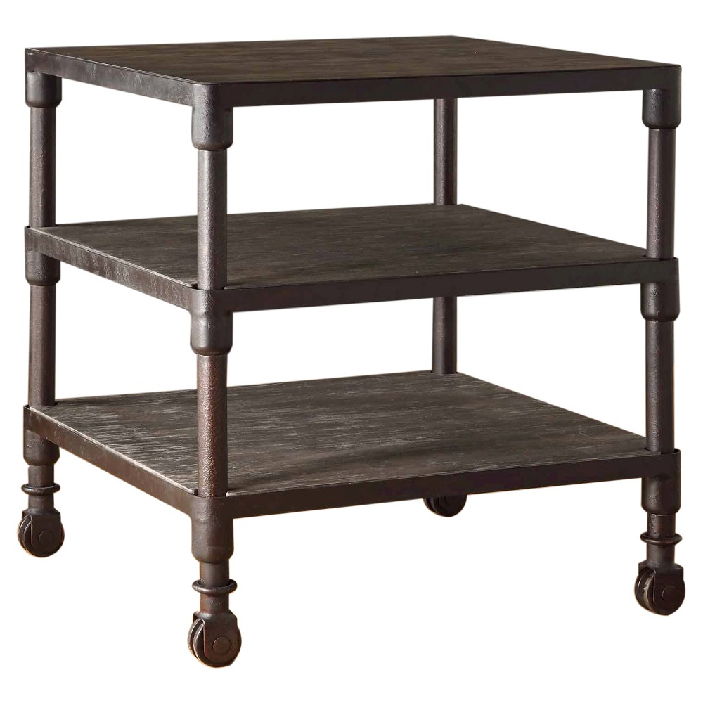 Wells 3 Tier End Table Gray