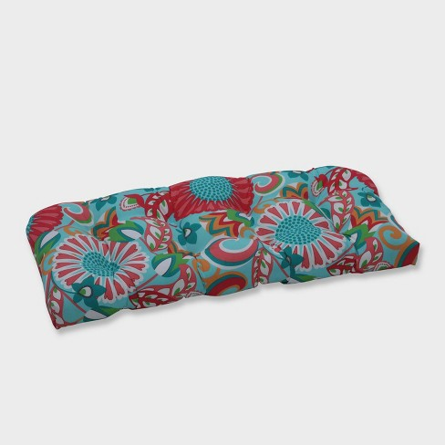 Sophia Wicker Outdoor Loveseat Cushion Green - Pillow Perfect - image 1 of 1
