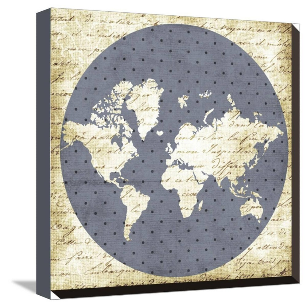 World Antique By Erin Clark Stretched Unframed Wall Canvas Print 13