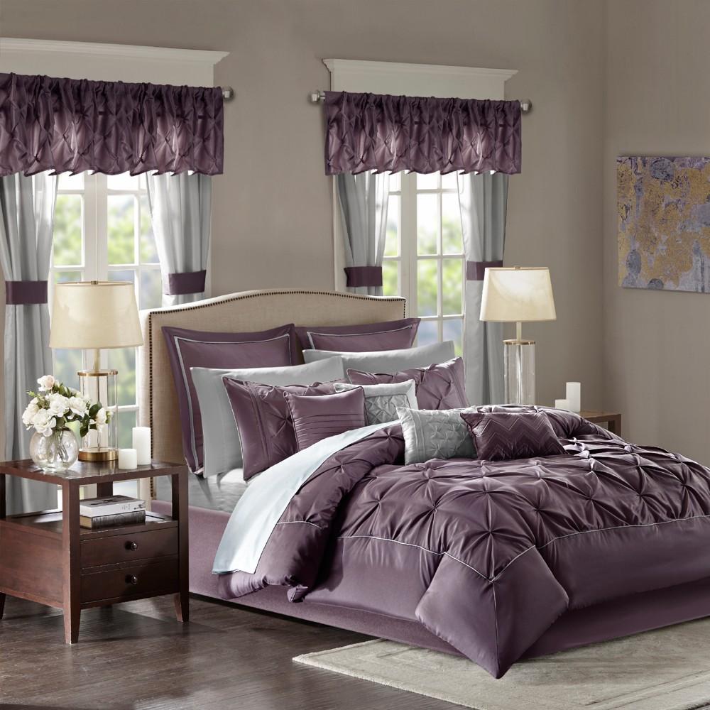 Plum Emma Room in a Bag (King) 24pc, Purple