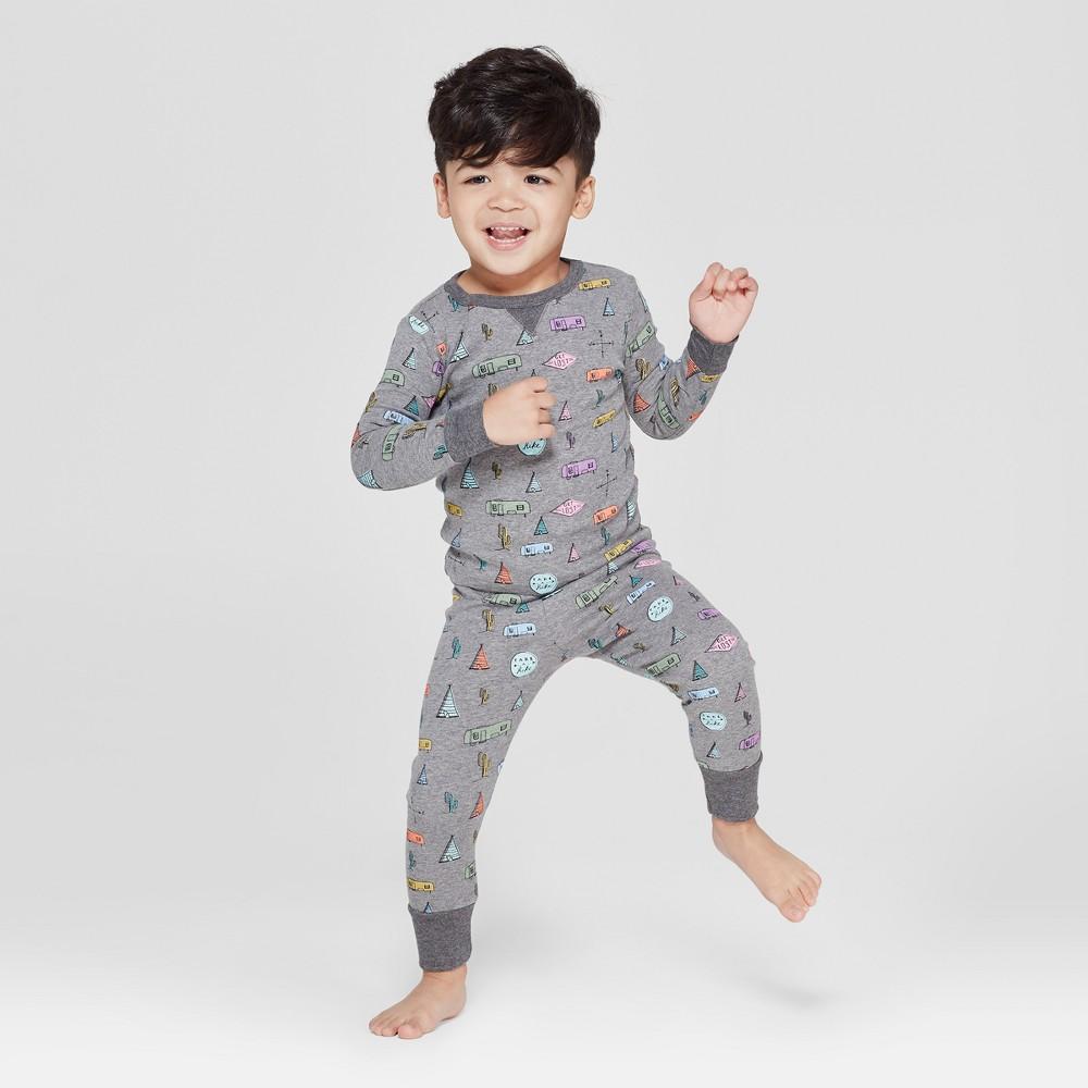 Toddler Camper Van Pajama Set - Gray 18M