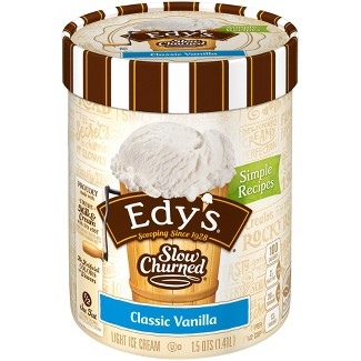 Edys® Slow Churned Rich & Creamy Vanilla Ice Cream - 1.5qt