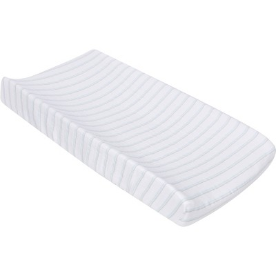 MiracleWare Muslin Changing Pad Cover Blue Stripe