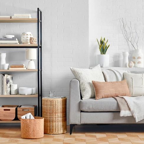 Textured Ceramic Table Lamp White Lamp Only - Threshold™ : Target