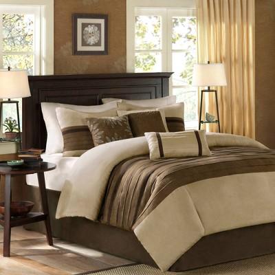 7pc Queen Dakota Microsuede Comforter Set - Natural
