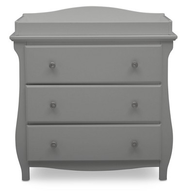 Delta Children Lancaster 3 Drawer Dresser with Changing Top - Gray