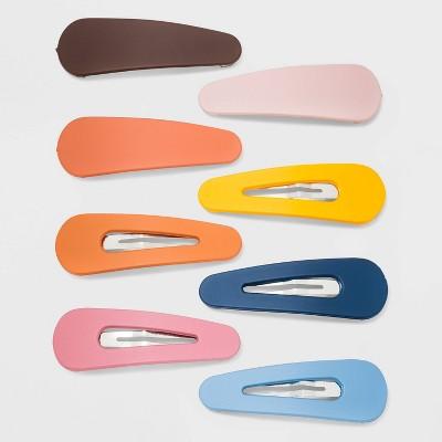 Four Piece 2cm Wide Metallic Pastel Colour Mini Claw Clip Hair Accessory Set