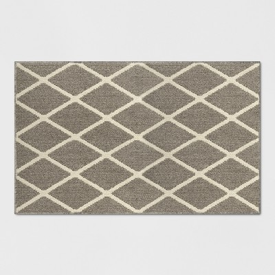 Warm Gray Diamond Tufted and Hooked Washable Accent Rug 2'6 X4'/30 X48  - Threshold™