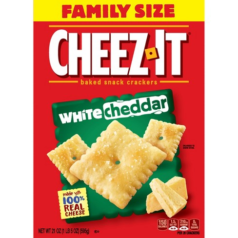 Cheez-It White Cheddar Baked Snack Crackers - 21oz - image 1 of 10