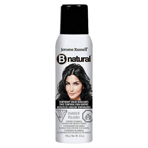Jerome Russell B natural Temporary Hair Color Spray Black - 3.5 oz - image 1 of 2